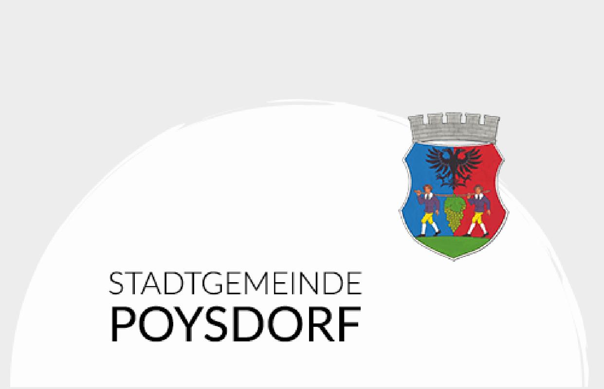Stadtgemeinde Poysdorf Logo Partner Fahrwerkstadl Weinviertel